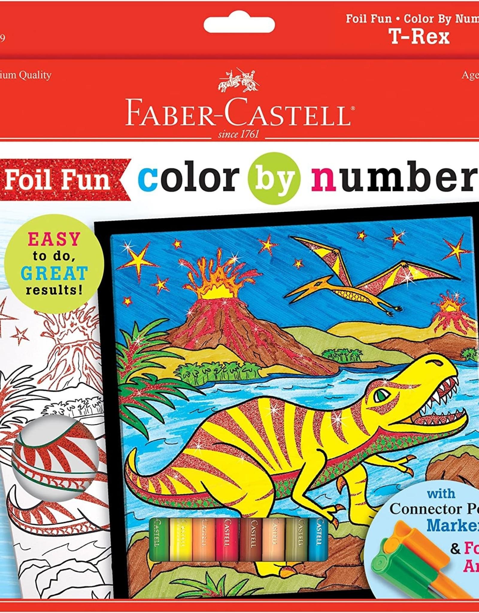 Faber-Castell Color By Number T-Rex Foil Fun