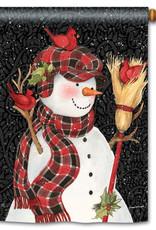 Studio M Snowman with Broom House Flag