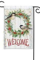 Studio M Chickadee Wreath Standard Flag