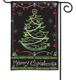 Studio M Blackboard Christmas House Flag