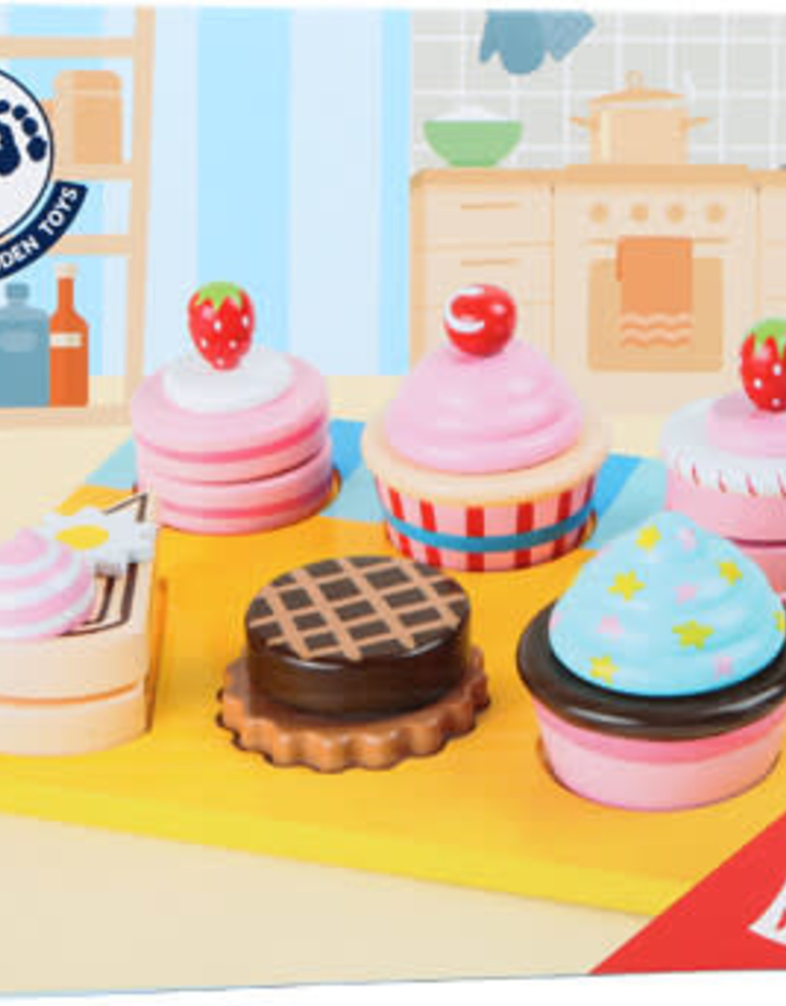 Small Foot Cupcakes and Cakes Cutting Set