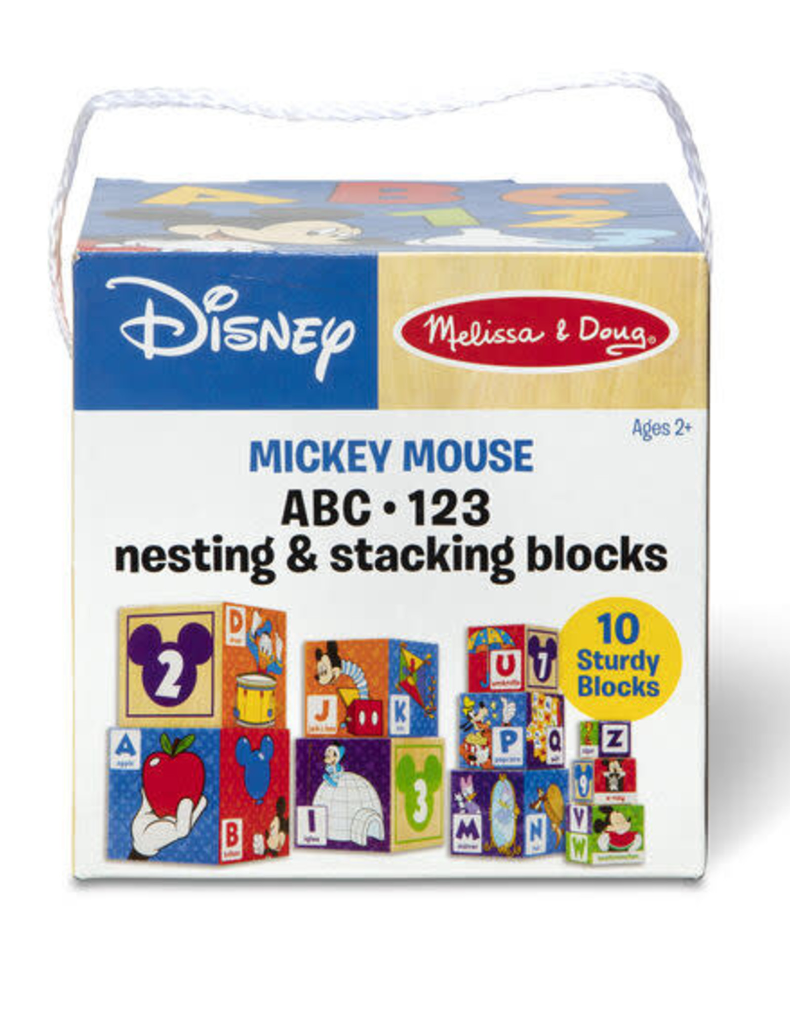 Melissa & Doug MD Mickey Mouse ABC 123 Nesting Stacking Blocks