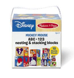 Melissa & Doug MD Mickey Mouse ABC 123 Nesting Stacking Blocks