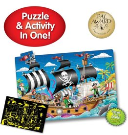 The Learning Journey 50pc Puzzle Doubles Glow In Dark Pirate Ship