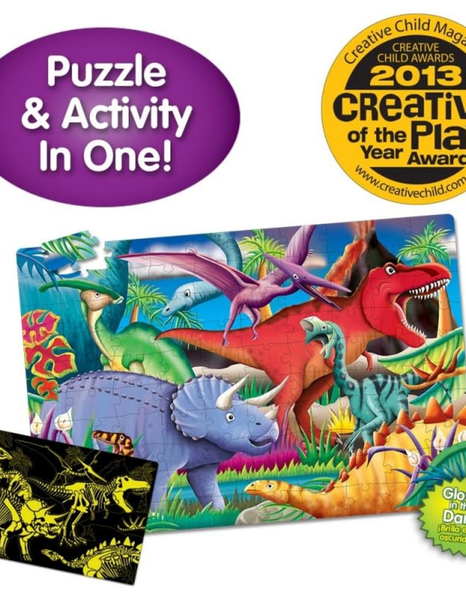 The Learning Journey 50pc Puzzle Doubles Glow In The Dark Dino