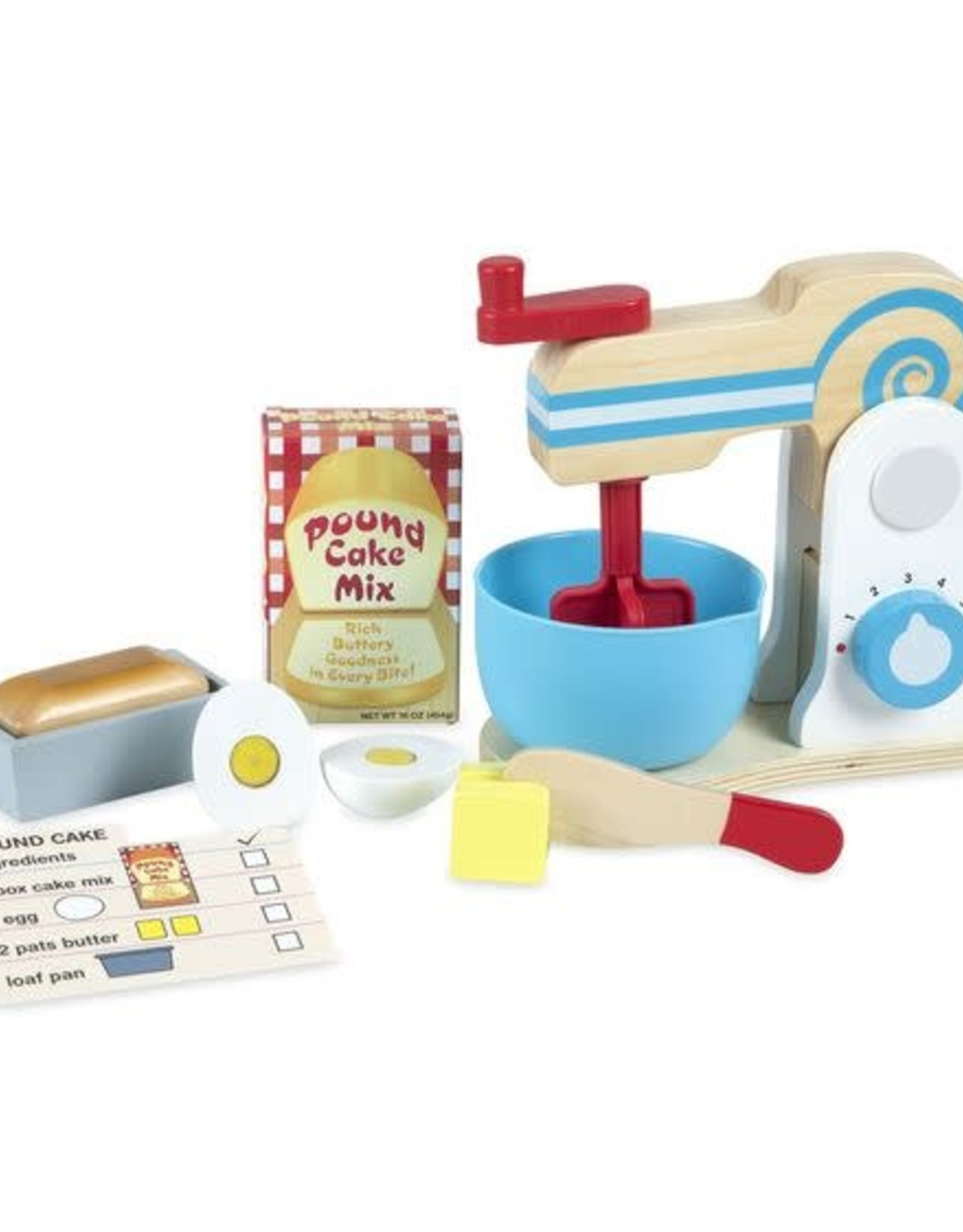 Melissa & Doug MD Wooden Cake Mixer Set