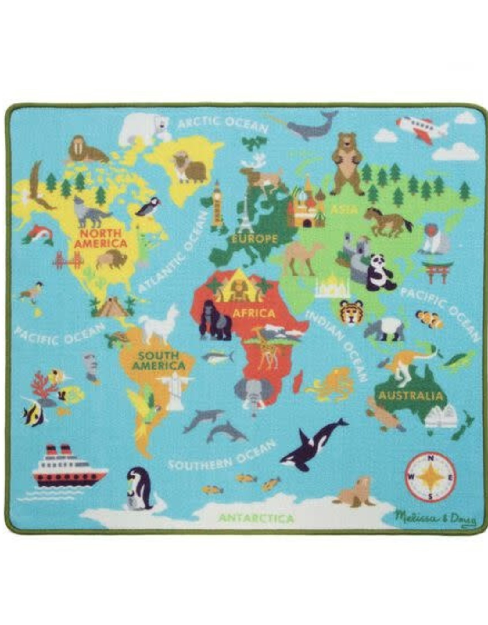 Melissa & Doug MD Rug Round the World