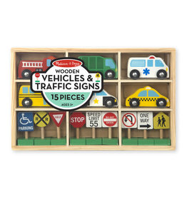 Melissa & Doug MD Wooden Vehicles & Signs