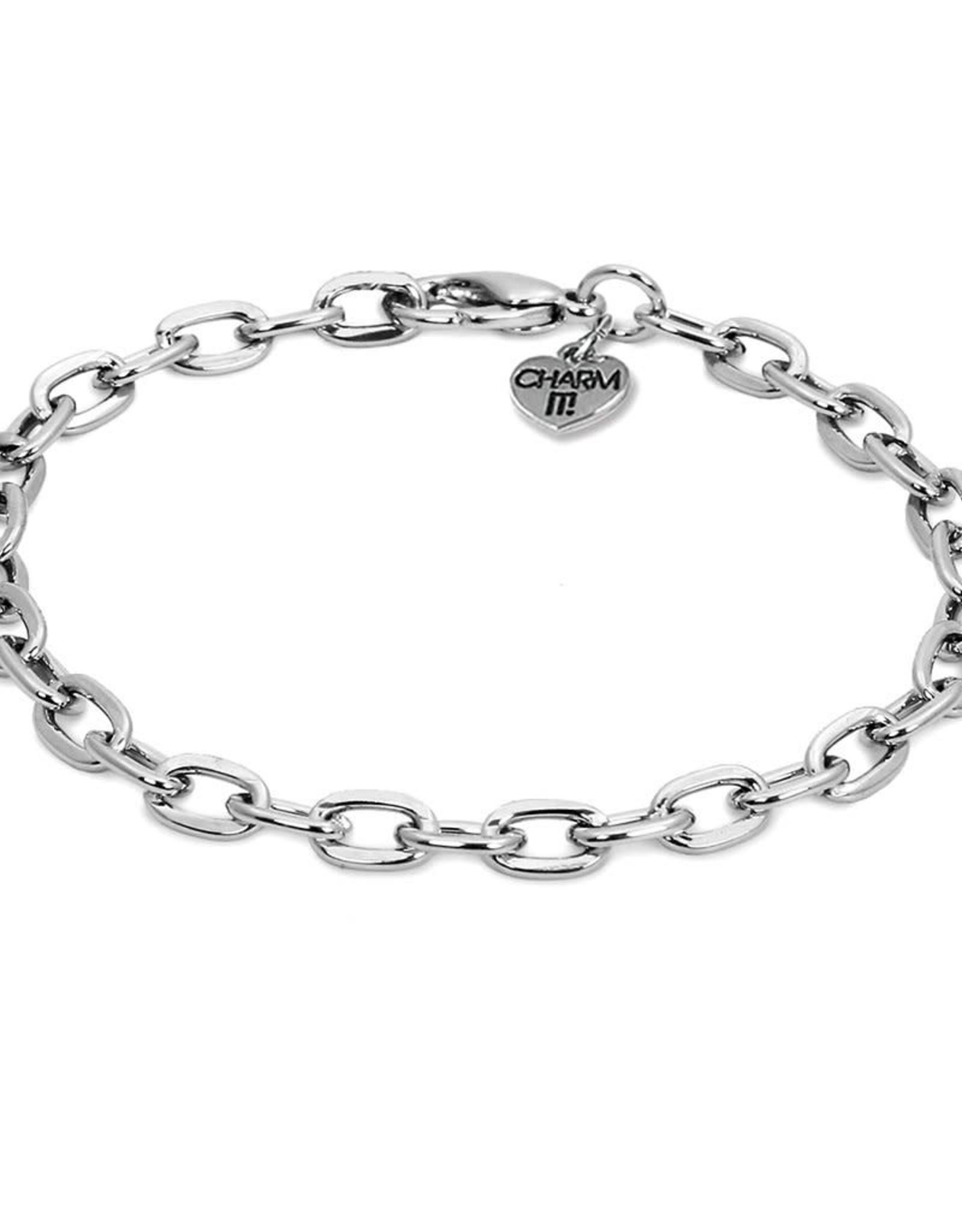 Charm It Charm Bracelet Silver Chain