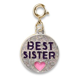 Charm It Charm Gold Glitter Best Sister