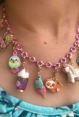 Charm It Charm Necklace Pink Chain