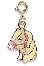 Charm It Charm  Horse Gold Glitter