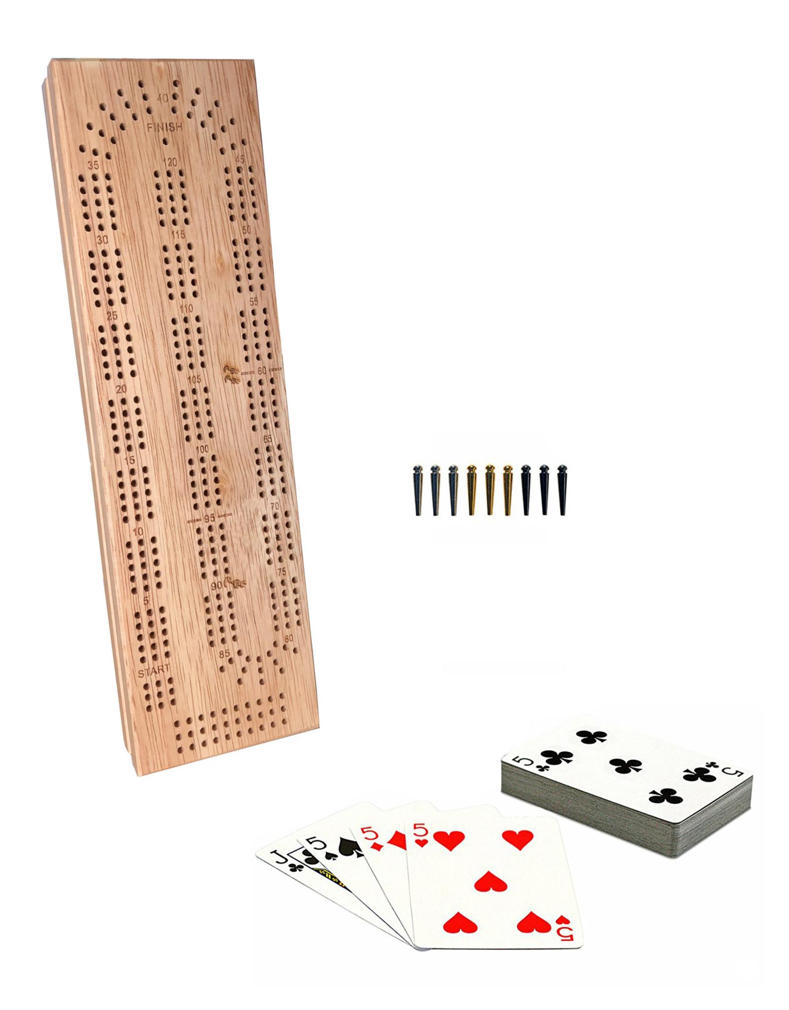 Cribbage Board 3 Track Cards Storage