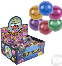 The Toy Network Ball Squish Stretch Glitter