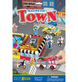 PlayMonster Magnetic Create-A-Scene Town