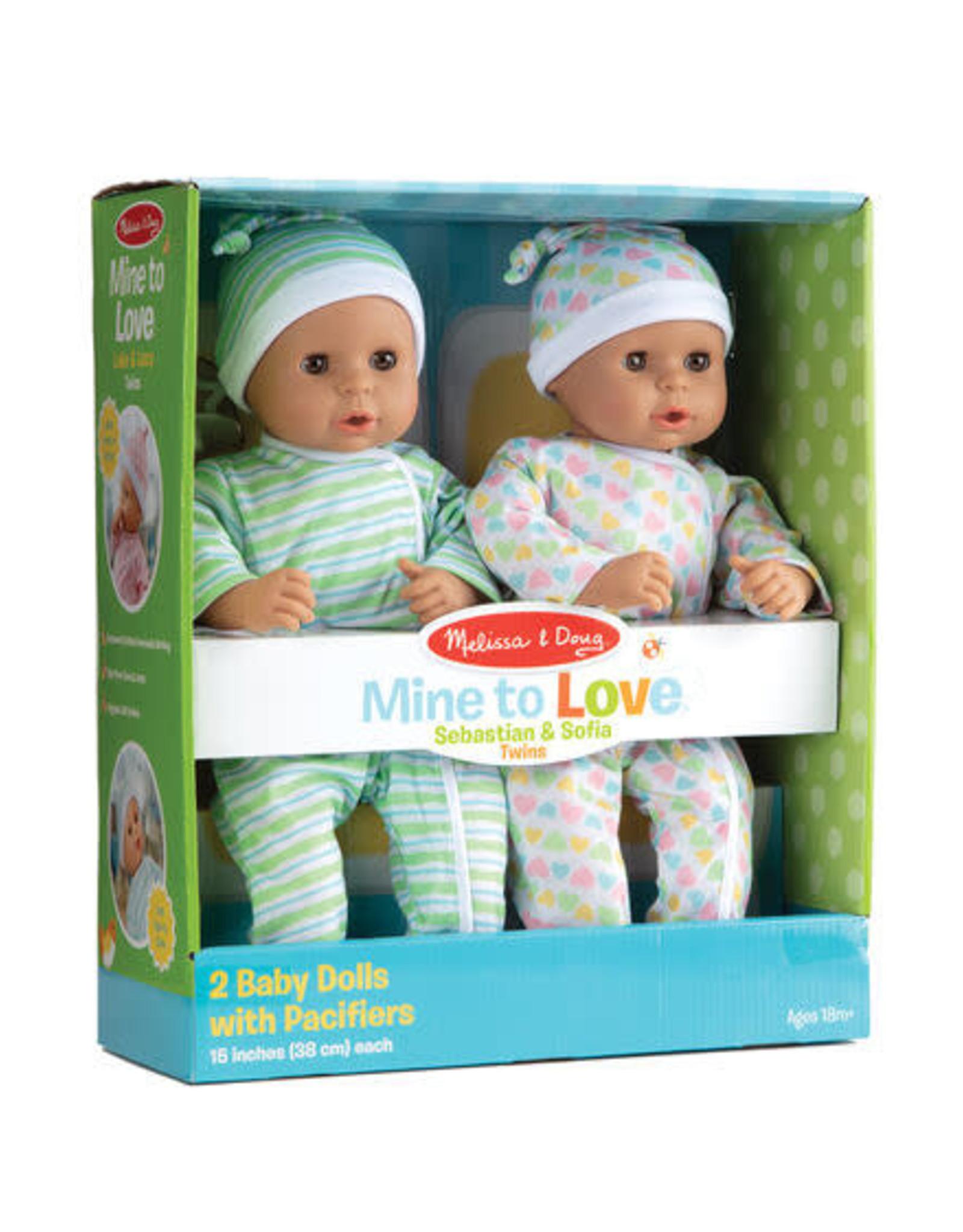 Melissa & Doug MD Baby Dolls Sebastian & Sofia