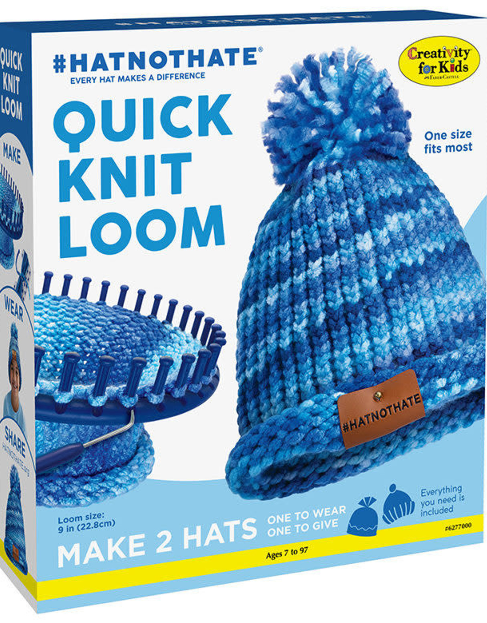 Creativity for Kids HAT NOT HATE Quick Knit Kit