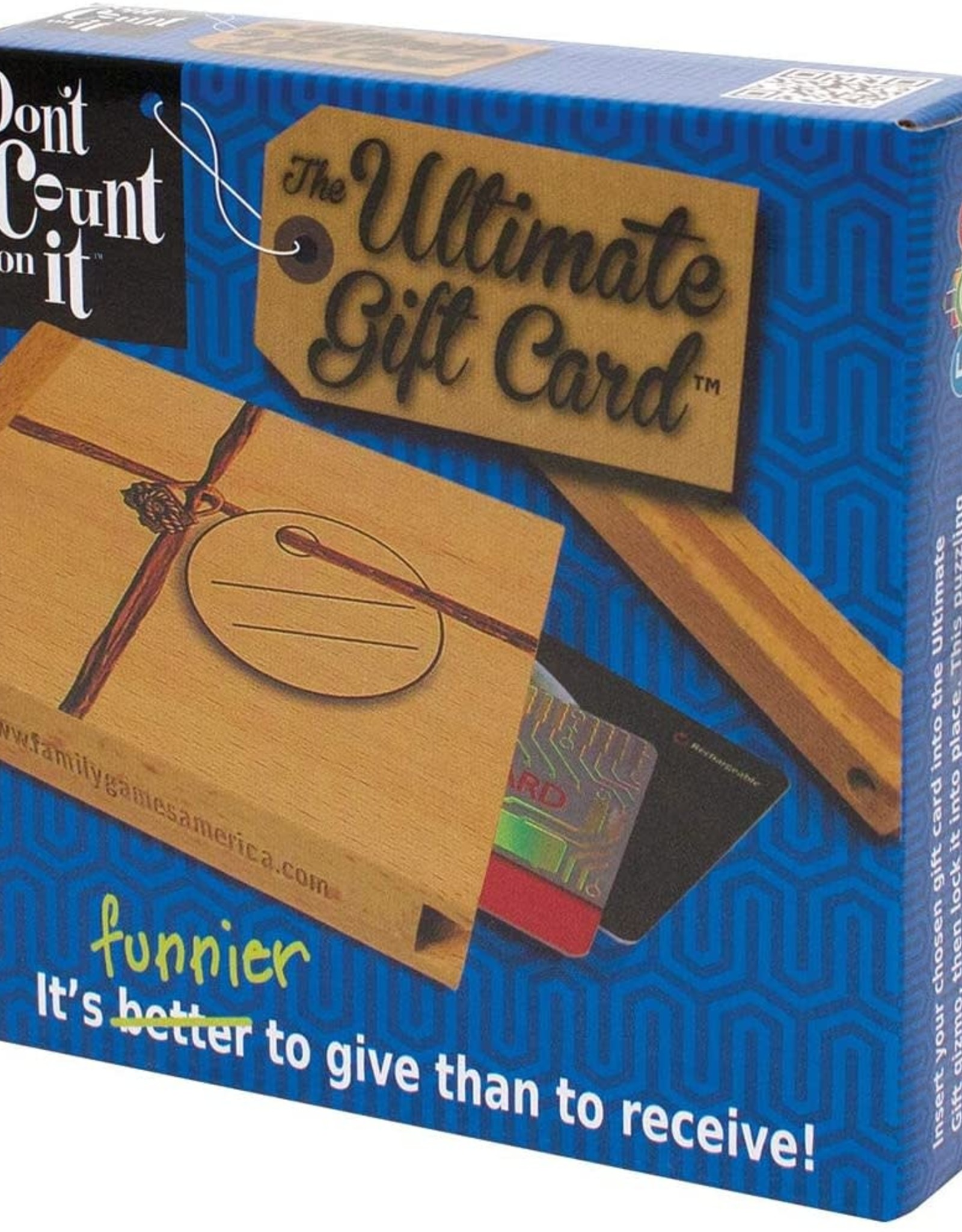 Family Games Don't Count On It Gift Card Box