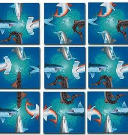 B Dazzle Scramble Squares Sharks
