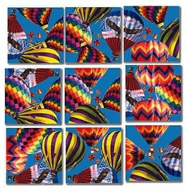B Dazzle Scramble Squares Hot Air Balloons