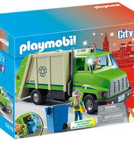 Playmobil PM Green Recycling Truck Small