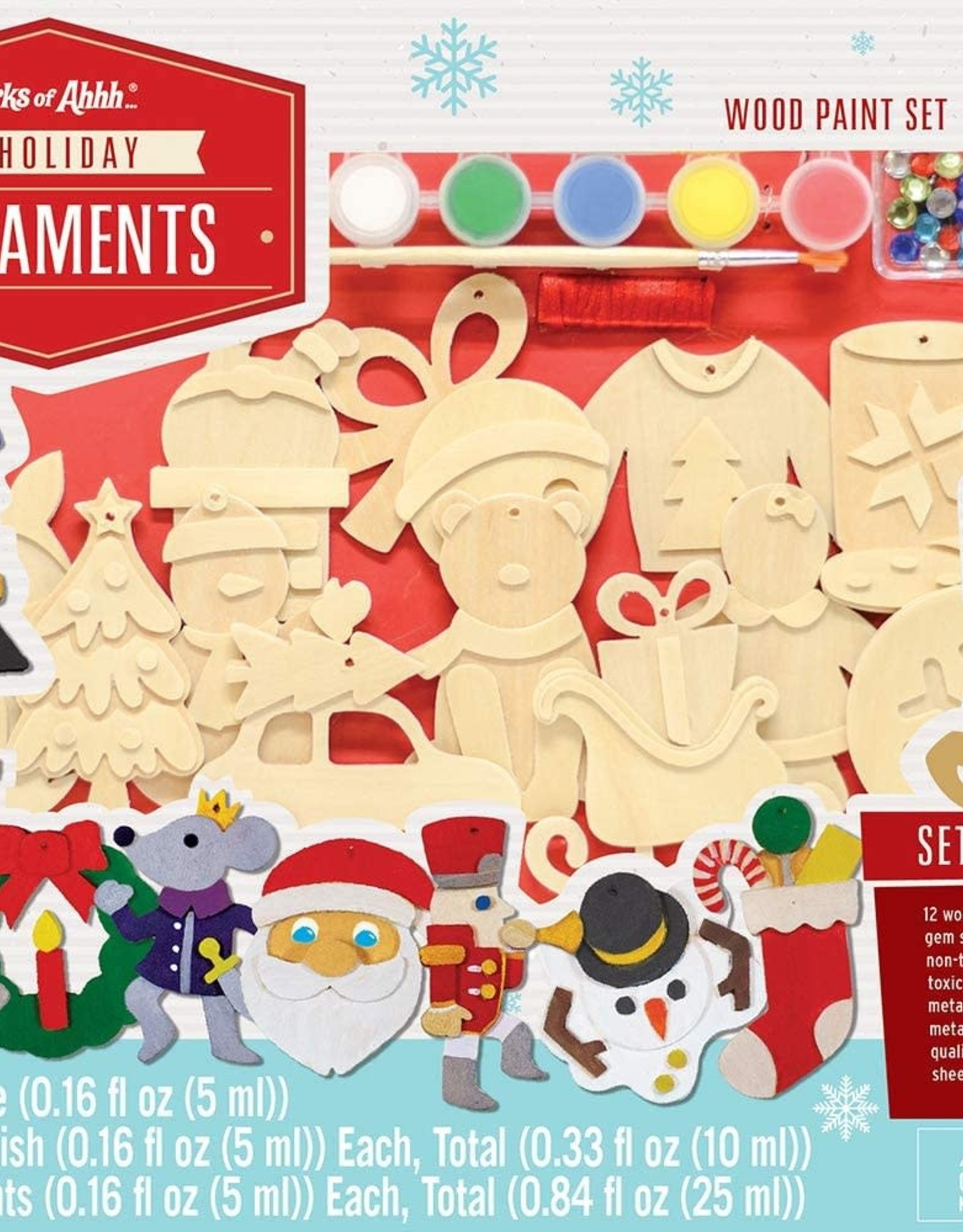 Works of Ahhh Paint Set 12 Holiday Ornaments