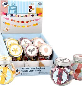 Small Foot Threading Beads Candy Jar