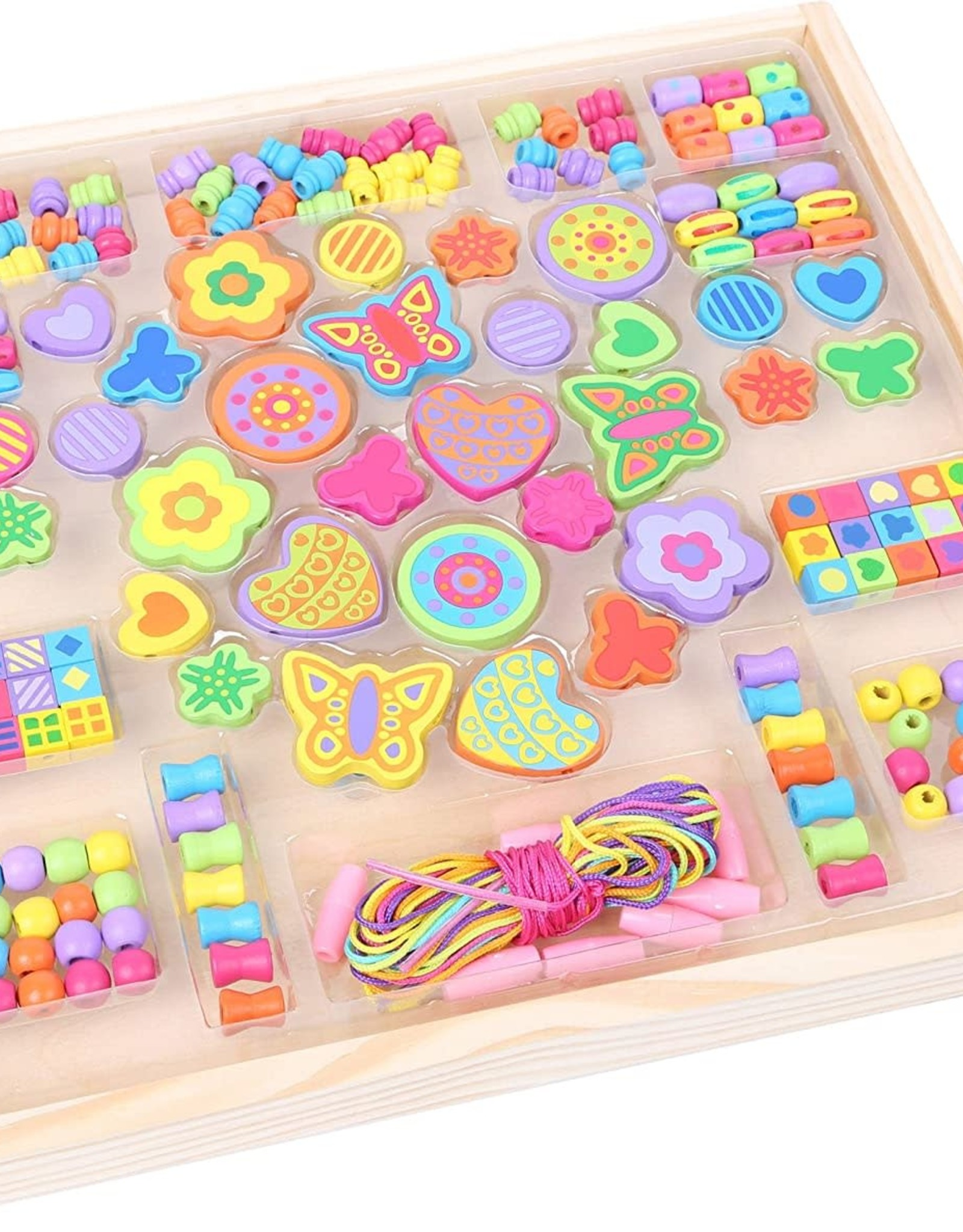 Small Foot Threading Beads Flowers Tray