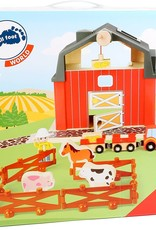 Small Foot Farm Red Wooden with Animals
