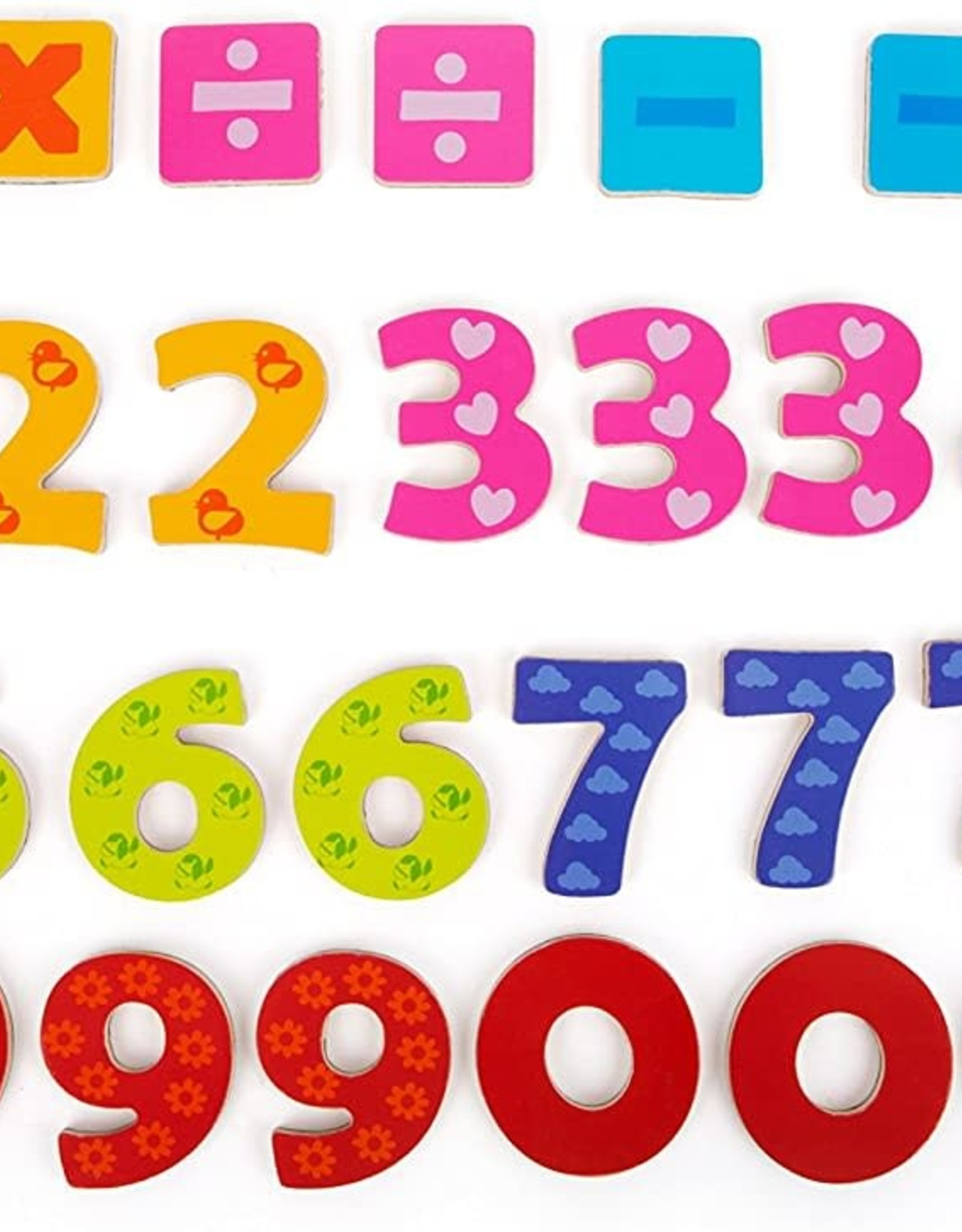 Small Foot Colourful Magnetic Numbers