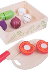 Bigjigs Toys Cutting Vegetables Crate