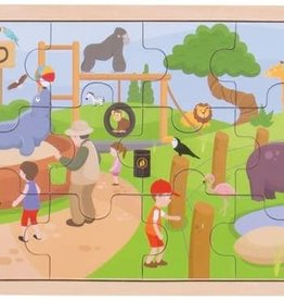 Bigjigs Toys 24pc Wooden At The Zoo Puzzle