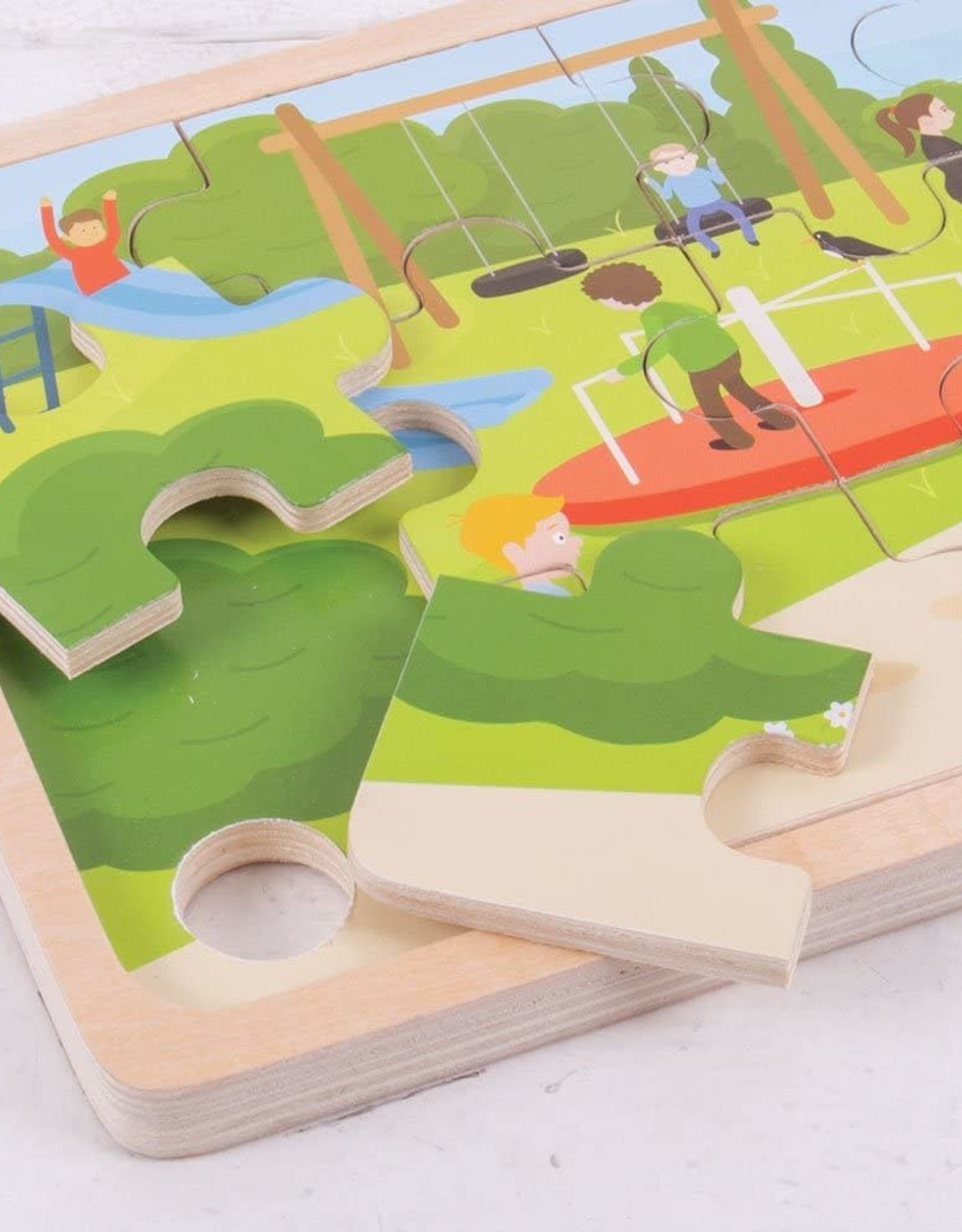 Bigjigs Toys 24pc Wooden In The Park Puzzle