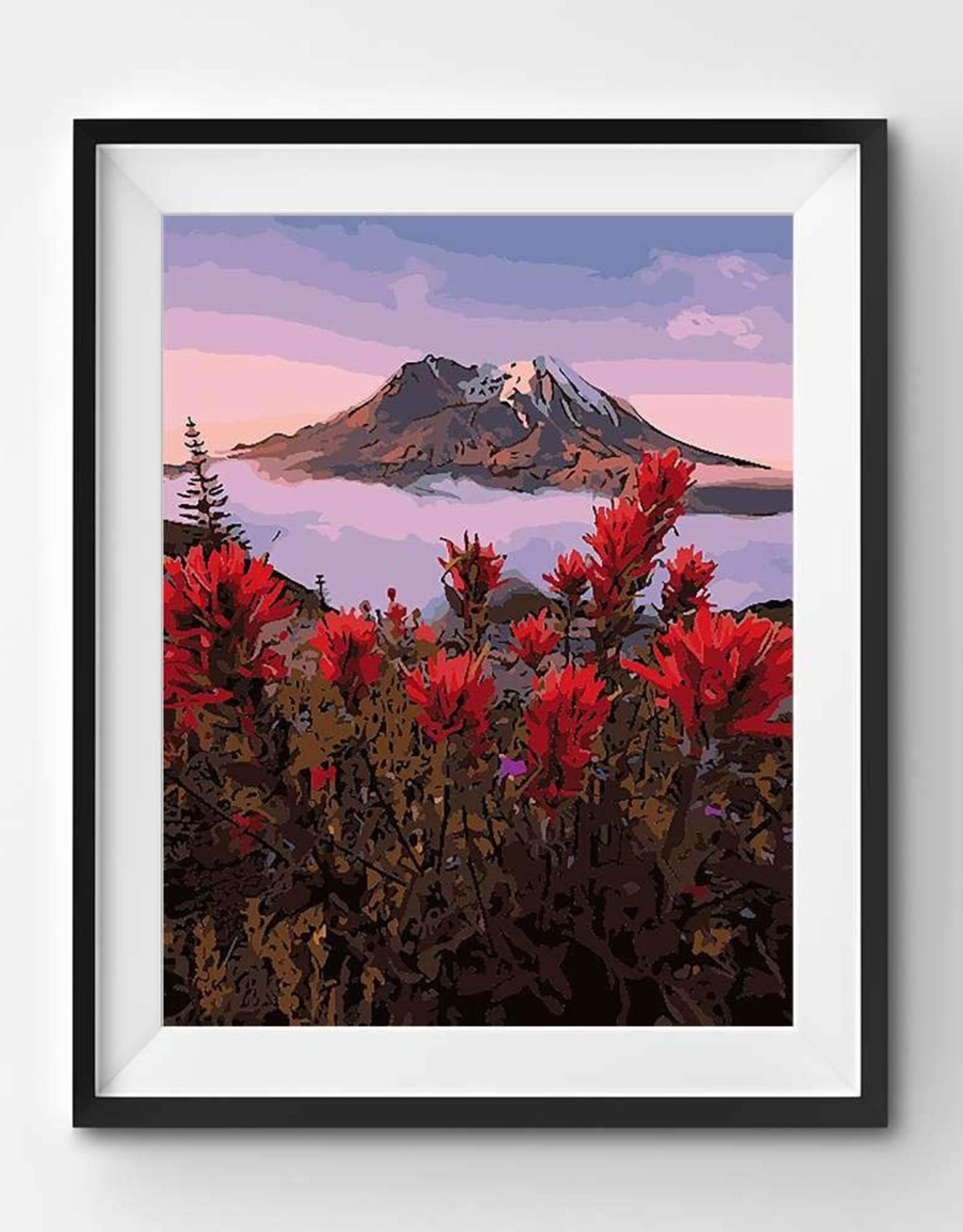 Winnie's Picks Paint by Number Awakening Mt Fuji