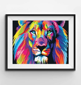 Winnie's Picks Paint by Number Colorful Lion