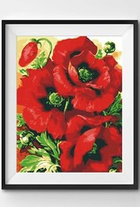Winnie's Picks Paint by Number Red Poppies