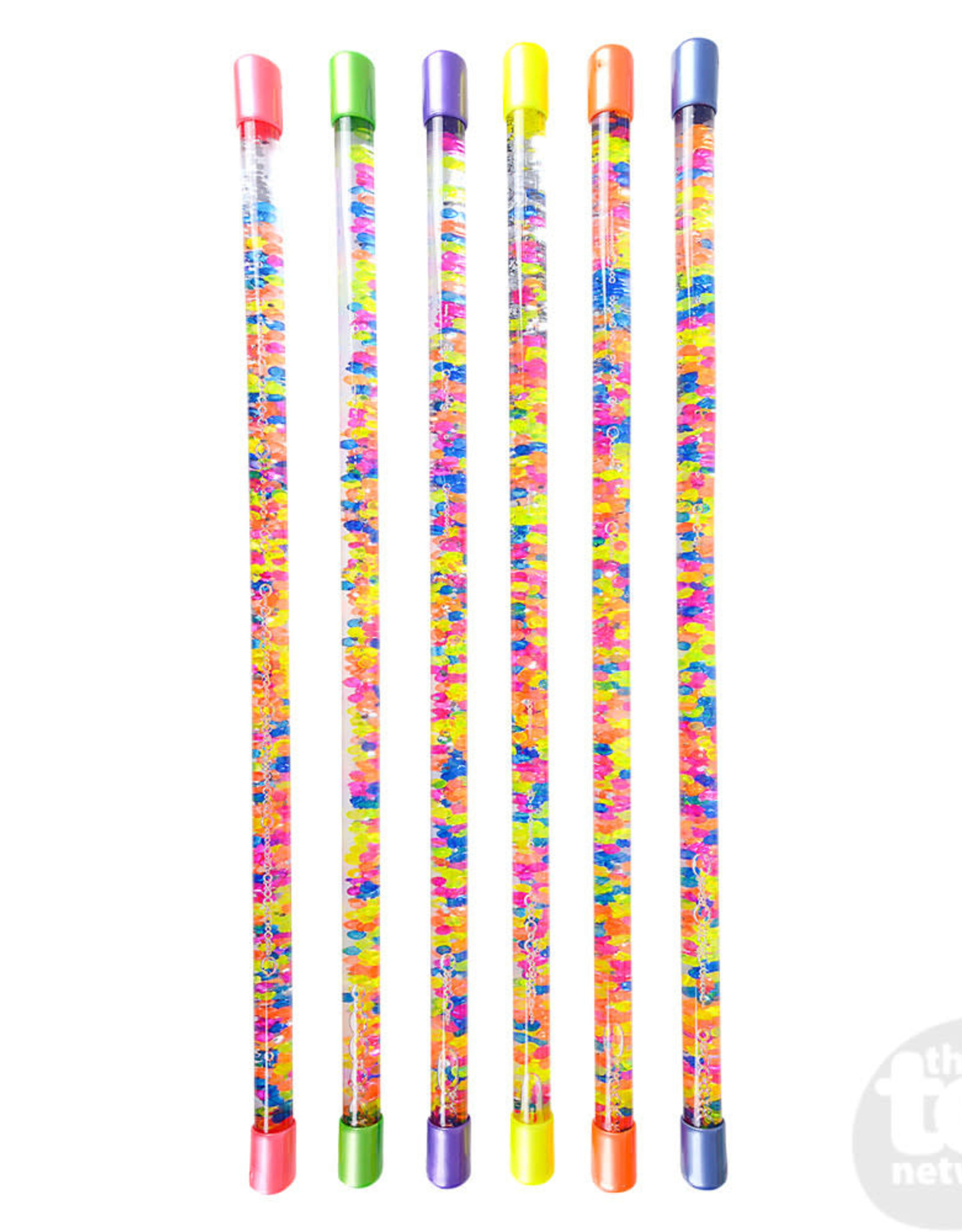 """The Toy Network BATON 18"""" GLITTER WATER WITH BEADS"""