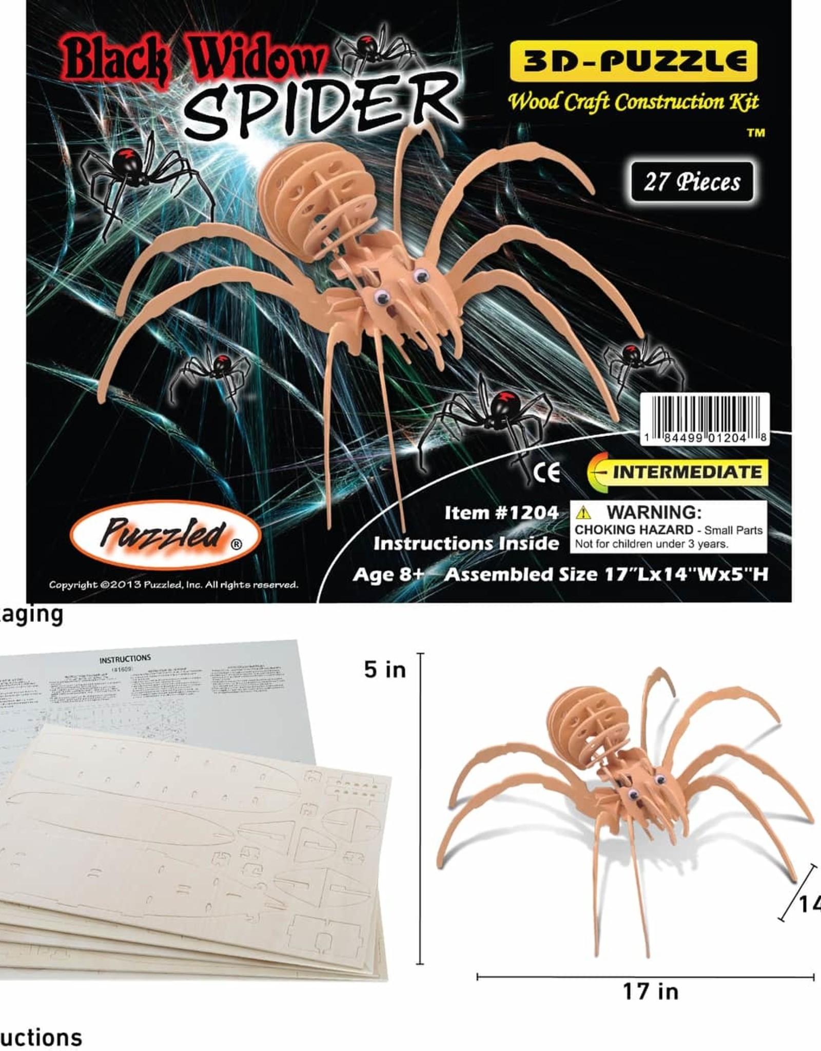 3D Puzzles Black Widow Spider