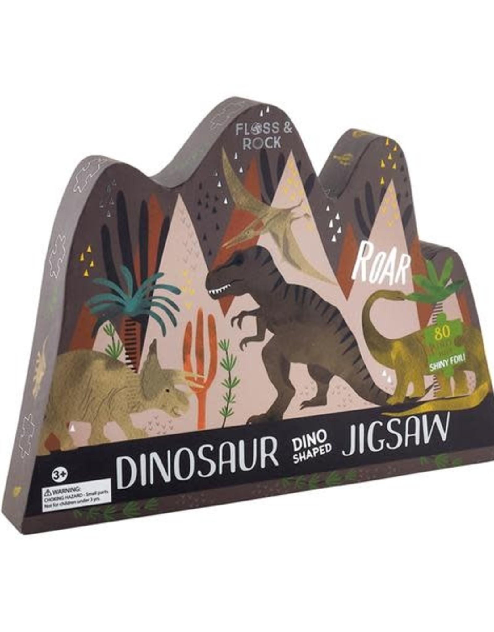 Floss & Rock 80pc Dinosaur Jigsaw Shaped