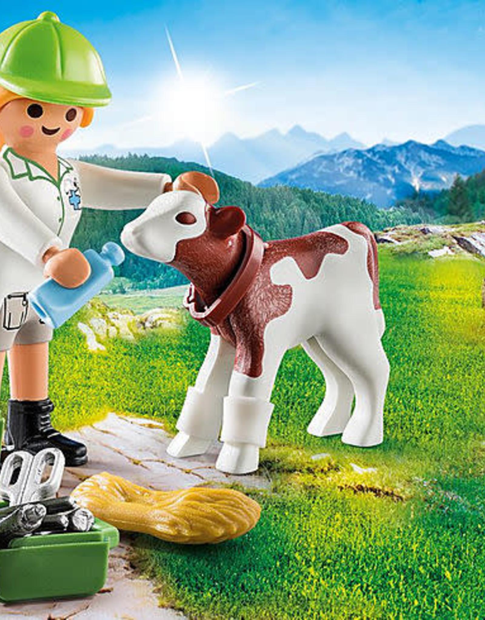 Playmobil PM Vet with Calf