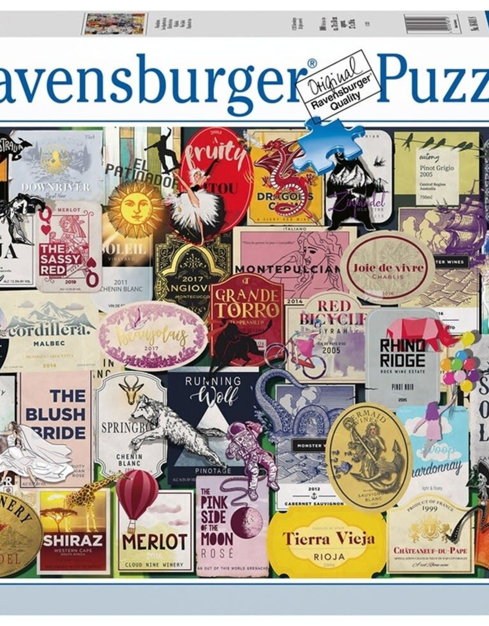 Ravensburger 1000pc Wine Labels