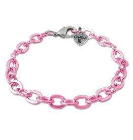 Charm It Charm Bracelet Pink Chain