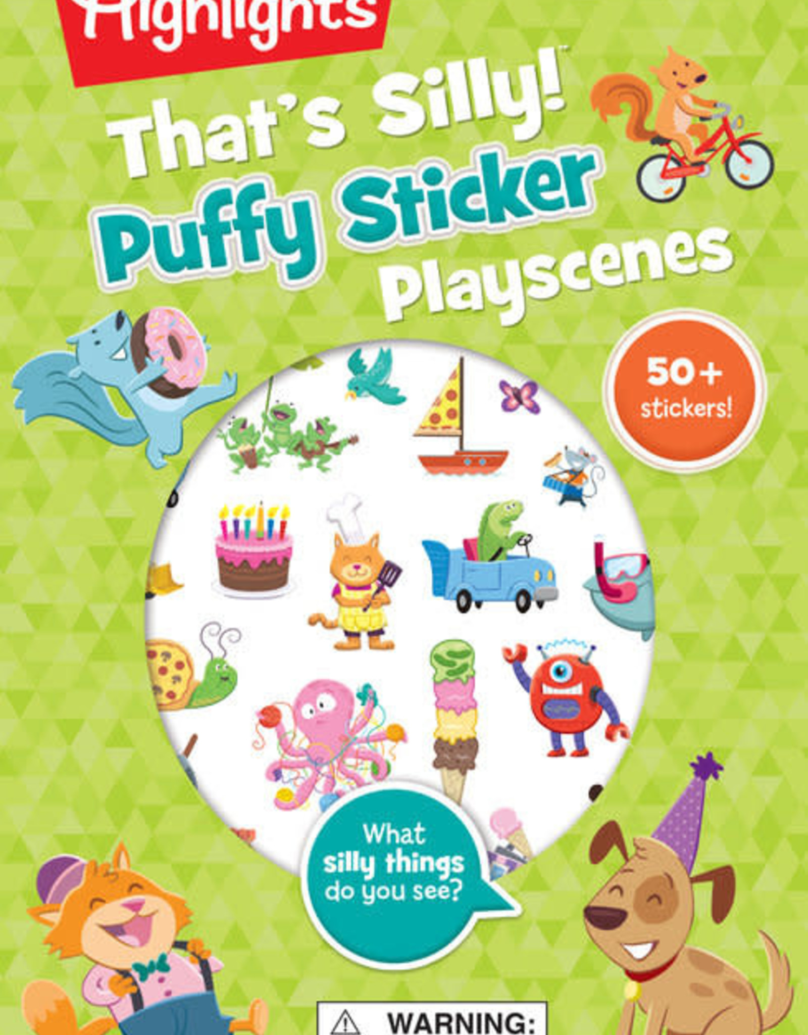 Highlights Puffy Stickers Hidden Pictures That's Silly