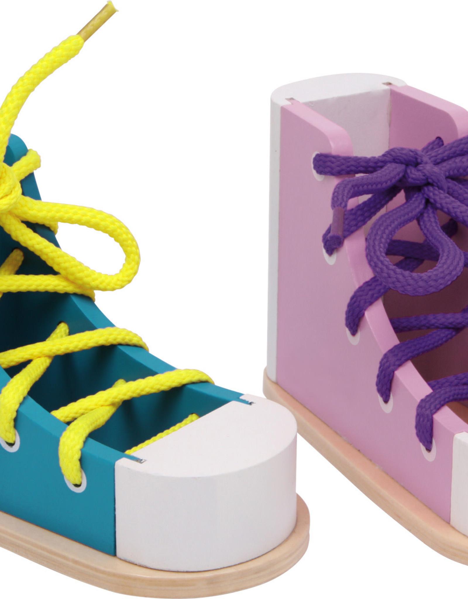 Small Foot Lacing Shoe Pair