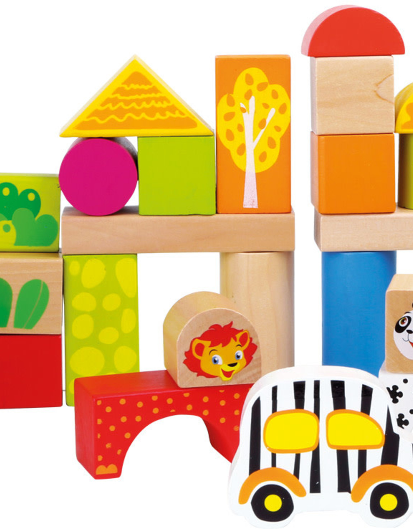 Blocks Zoo Theme Wooden