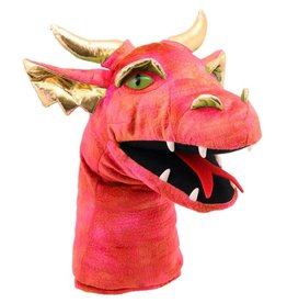 The Puppet Company Puppet Plush Large Dragon Head Red