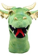 The Puppet Company Puppet Plush Large Dragon Head Green