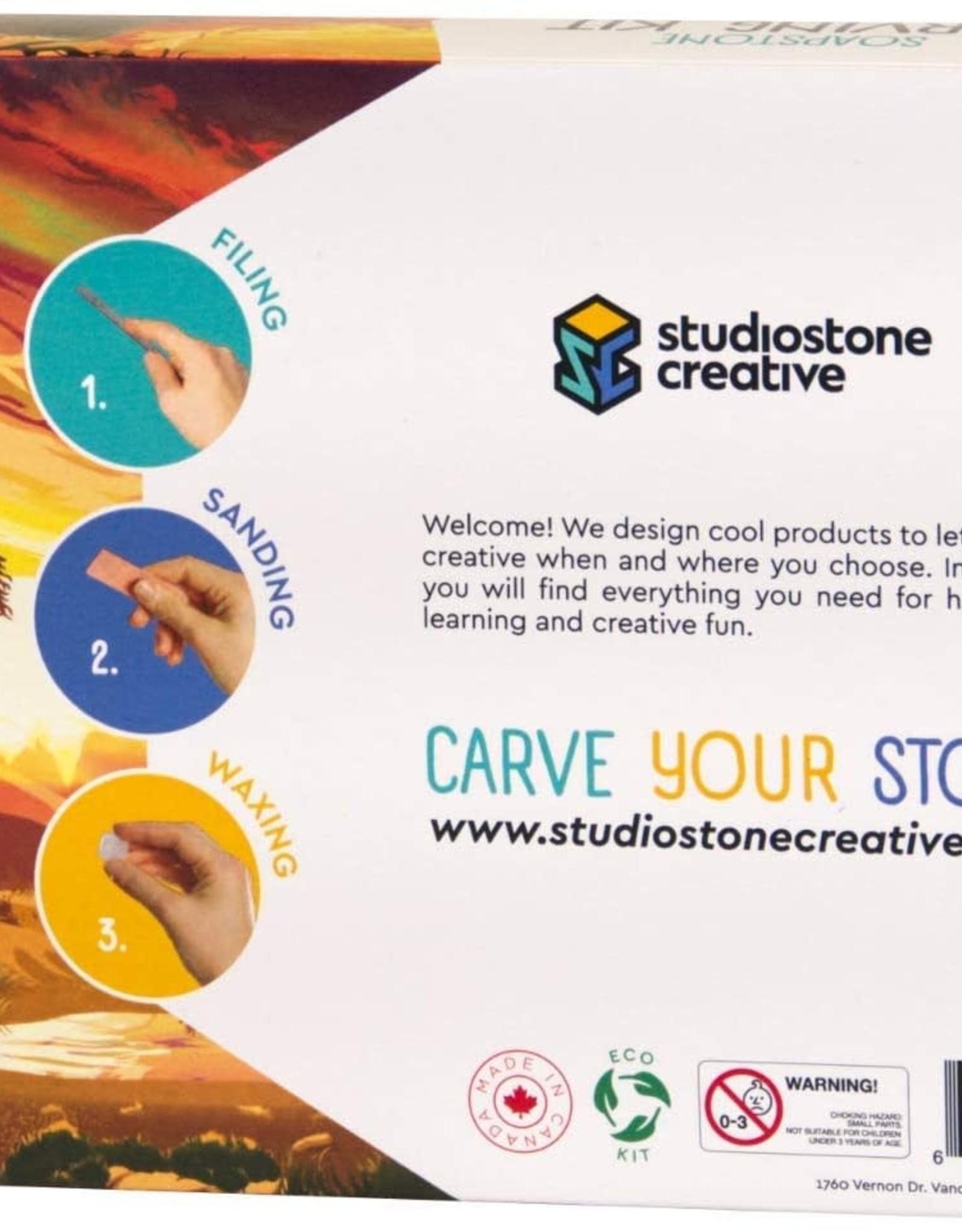 Studiostone Creative Soapstone Carving Kit Elephant