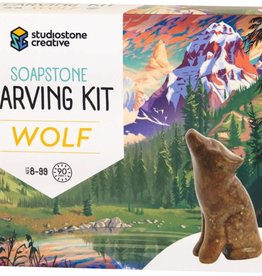 Studiostone Creative Soapstone Carving Kit Wolf