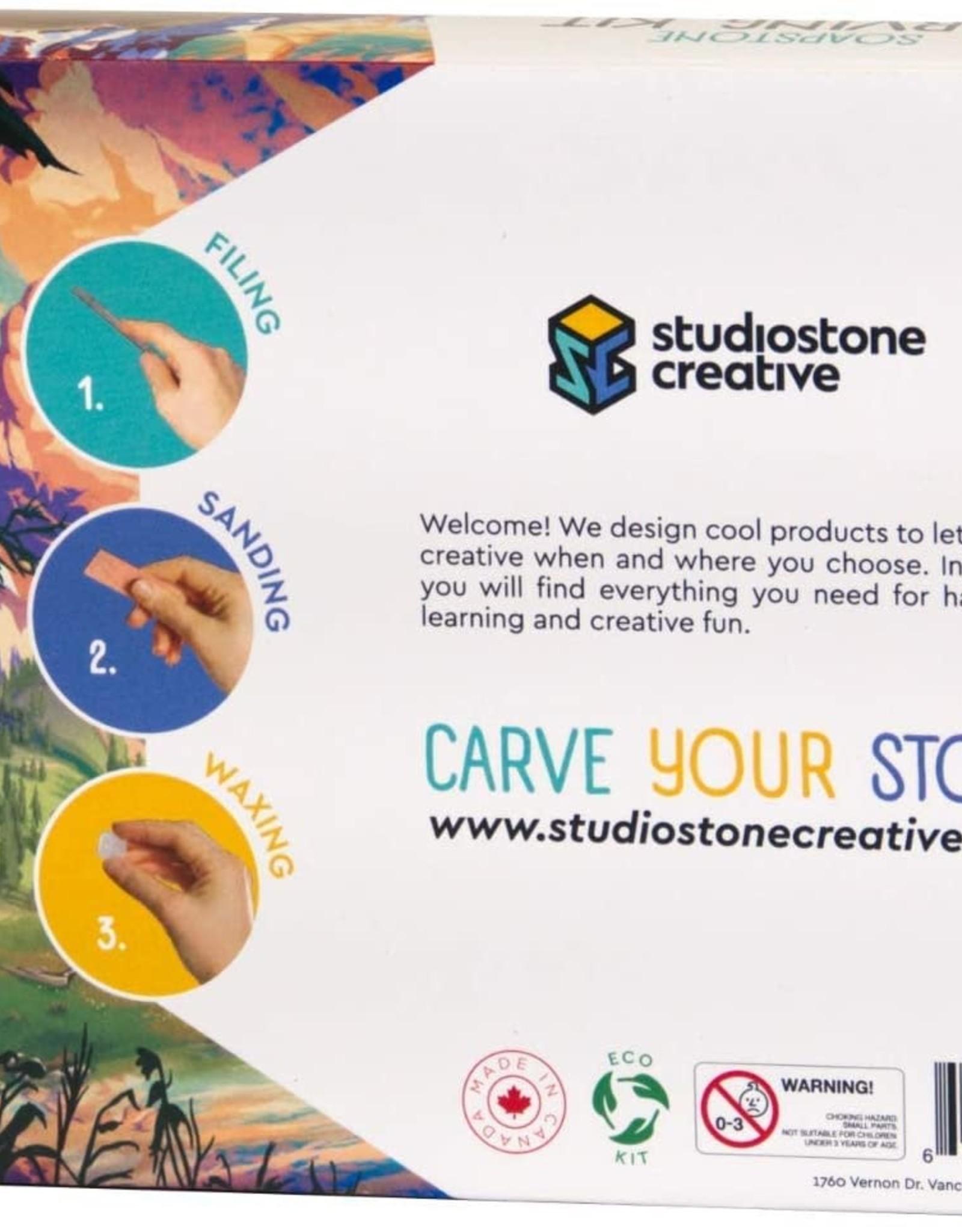 Studiostone Creative Soapstone Carving Kit Wolf